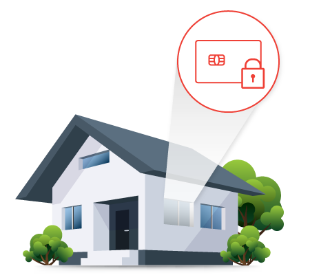 House with Secure PIV Card